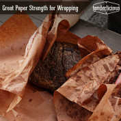 """Pink Butcher Kraft Paper Roll - 24 """" x 250' (3000"""") Peach Wrapping Paper for Beef Briskets - USA Made - All Natural FDA Approved Food Grade BBQ Meat Smoking Paper - Unbleached Unwaxed Uncoated Sheet"""