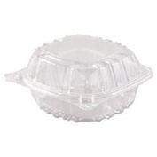 Clearseal Hinged-Lid Plastic Containers, 6 X 5 4/5 X 3, Clear, 500/carton By