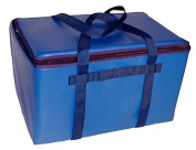 TCB Insulated Bags DST-1-Blue Insulated Catering Bag for Steam Table Pans, Holds 3 10cm or 2 15cm Pans, 41cm x 60cm x 36cm , Blue