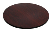 Flash Furniture 80cm Round Table Top with Black or Mahogany Reversible Laminate Top