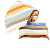 YAC1A16 Design for Boyfriend Multicoloured Striped Silk Necktie 3PT By Y & G