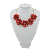 BOCAR Statement Pendant Choker Flower Necklace for Women