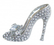 Sindary Charming 5.5cm High-heeled Shoe Brooch Pin Austrian Crystal UKB5865