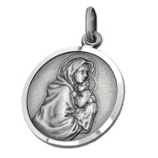 pendant medal mother mary silver 925