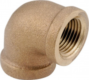 Anderson 738100-24 Pipe Elbow, 90 deg, 2.5cm - 1.3cm , IPT, Brass