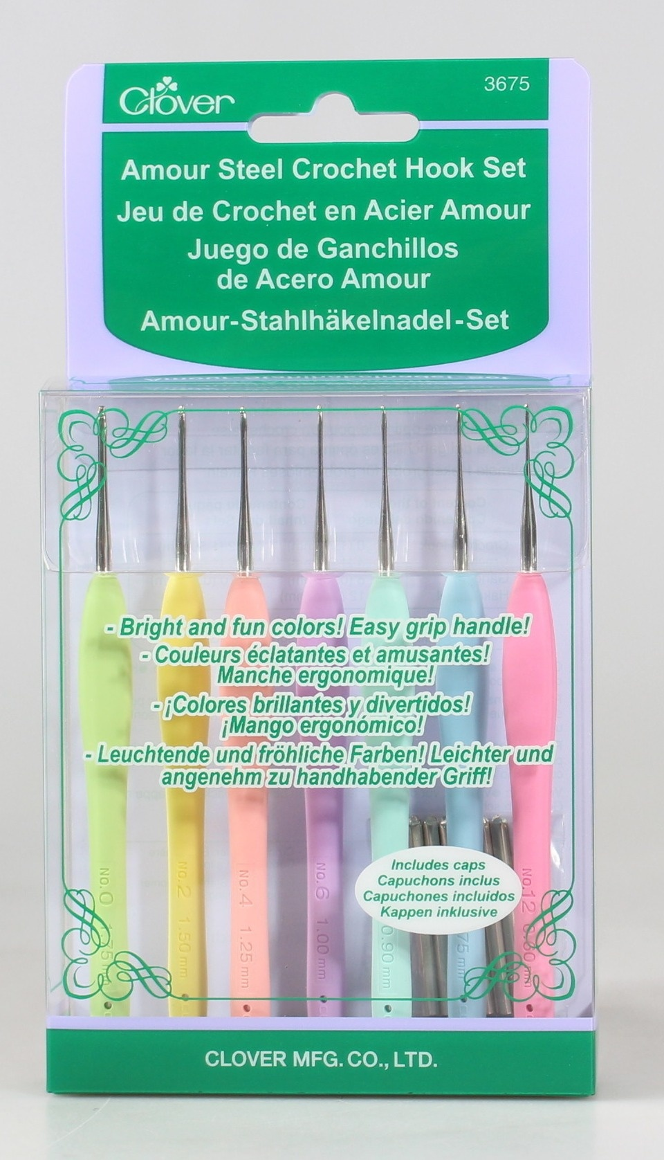 Clover Amour Steel Crochet Hook Set By Clover Shop Online For Arts