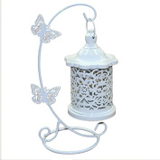 Wicemoon Iron Hollow Candlestick Butterfly Linked to Crafts Decorative Ornaments Candlestick Lamp Candleholder Light