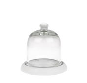Sophie Allport Mini Glass Cloche With Wooden Base