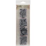 Tim Holtz Mini Blueprints Strip Cling Stamps 7.6cm x 25cm