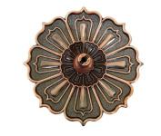 Toruiwa Censer Lotus Shape Incense Burner Holder Alloy Censer Plate with 9 Holes Home Fragrance Accessories 1pcs