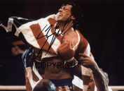 LIMITED EDITION SYLVESTER STALLONE ROCKY SIGNED PHOTOGRAPH + CERT PRINTED AUTOGRAPH