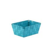Axentia Storage Basket, Metal, 19 x 14 x 9 cm Blue