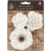 Chaste Mulberry Paper Flowers 5.1cm - 8.3cm 3/Pkg