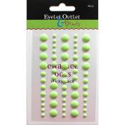 Eyelet Outlet Adhesive-Back Enamel Dot 60/Pkg