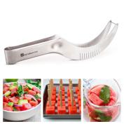 SAVORLIVING Watermelon Slicer Cutter Corer & Server - Multipurpose All In One Stainless Steel Knife - Melon & Fruit Slicer