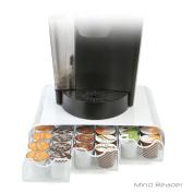 Mind Reader Triple Drawer Mesh K-Cup Single Serve Coffee Pod Drawer, White