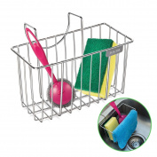 Kitchen Sponge Holder, HBlife Stainless Steel Sink Caddy Organiser Soap Dishwashing Liquid Drainer Brush Rack Holder
