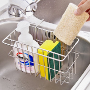 Sponge Holder,AIYoo Kitchen Sink Caddy Organiser Brush Soap Dishwashing Liquid Drainer Rack,Stainless Steel Countertop Sponge Storage Rack 7.8x 4.10cm x 12cm