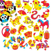 Chinese New Year Foam Stickers For Kids Perfect For Children's Arts, Crafts And Decorating For Boys And Girls