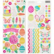 Hello Spring Cardstock Stickers 15cm x 30cm 2/Pkg