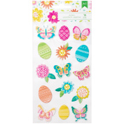 Hello Spring Puffy Stickers