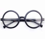 Clear Lenses Round Black Glasses Fancy Dress Accessory