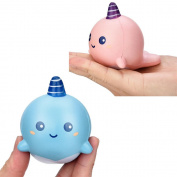 Decompression Toys, Saingace 8cm Unicorn Whale Cartoon Scented Squishy Charm Slow Rising Squeeze Toy Charm