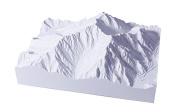1/50 000 scale precision model mountain mountains north Alps series No.02 Hotakadake Myojindake (finished product)