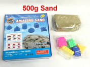Magic Motion Moving Sand 500g Play Set with 5 Castle Moulds Children Toy