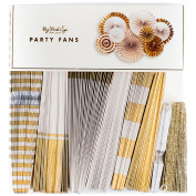 Fancy Party Fans 8/Pkg