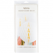 Fancy Ivory Honeycomb Balls 3/Pkg