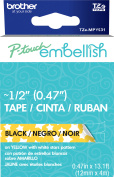 P-Touch Embellish Black Print Pattern Tape