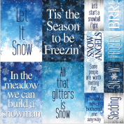 Snowflake Ridge Poster Stickers 30cm x 30cm