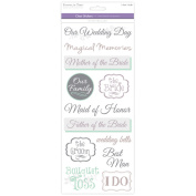MultiCraft Love & Marriage Clear Stickers