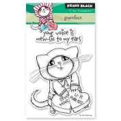 Penny Black Purrfect Clear Unmounted Rubber Stamp Set