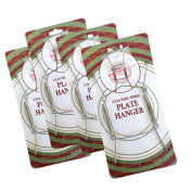 Chrome Vinyl Coated Plate Hanger 5 to 18cm Plates - Set of 4 - Includes Hook and Nail for Hanging