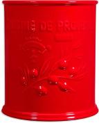 "Vintage Ceramic Utensil Container- Utensil Crock With Embossed "" Cuisine De Provence"""