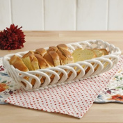 The Pioneer Woman Timeless Beauty 35cm Linen Bread Basket