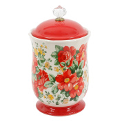 Pioneer Woman Pioneer Vintage Floral 25cm Canister with Acrylic Knob