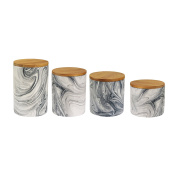 American Atelier 1562504CANRB Marble Canister Set, Grey