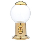 Godinger 9- Inch Refillable Glass Globe Gumball Machine and Candy Dispenser Antique Style - Gold Colour