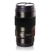 OUOH Camera Lens Cup with Stainless Steel Liner 180mm f/3.5 Lens Coffee Mug, 350ml