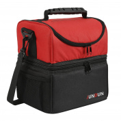 JUNDUN Lunch Bag Double Insulated Cooler Tote Lunch Box with Shoulder Strap for Men & Women