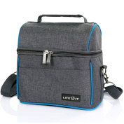 Lifewit Insulated Lunch Bag for Men / Women / Kids, Thermal Bento Box, Cool Bag for Office / School / Picnic, Grey