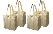 Earthwise Cotton Canvas Reusable Shopping Grocery Bag Tote