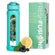 Fresh Fusions Fruit Glass Infuser Water Bottle Fruit Infused Water Bottle Fruit Infusion Water Bottle Water Infuser