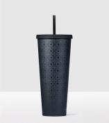 Starbucks Matte Black Pattern Cold Cup Acrylic Travel Tumbler, Venti 710ml