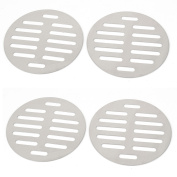 Unique Bargains Stainless Steel Round Sink Floor Drain Strainer Cover 10cm Dia 4pcs