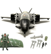 BOLEY Defender Jet Plane and Army Men Play Set - Toy Plane and Toy Soldiers Army Set