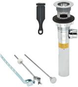PF WaterWorks PF0730-CH Standard Plastic PopUp Drain, Chrome